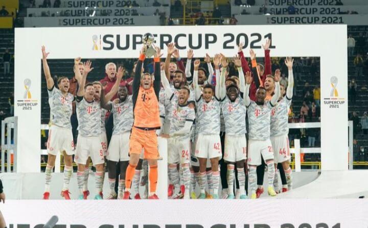 Finale Supercoupe d'Allemagne : première victoire et premier trophée de la saison pour le Bayern