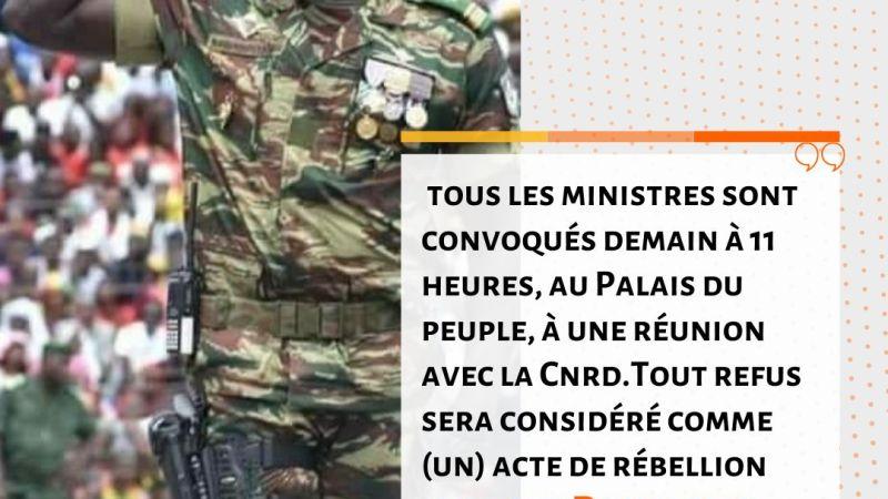 Guinée : le colonel Mamady Doumbouya convoque les ministres sortants et les anciens présidents des institutions ce lundi à 11h