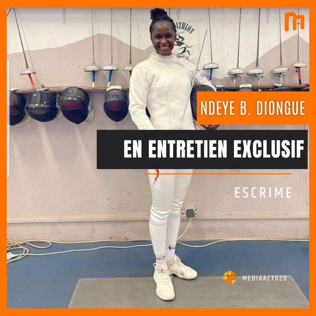 Décryptage   Bineta Diongue, une athlète chevronnée qui pratique l'escrime depuis 19 ans