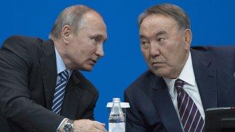 Путин и Назарбаев
