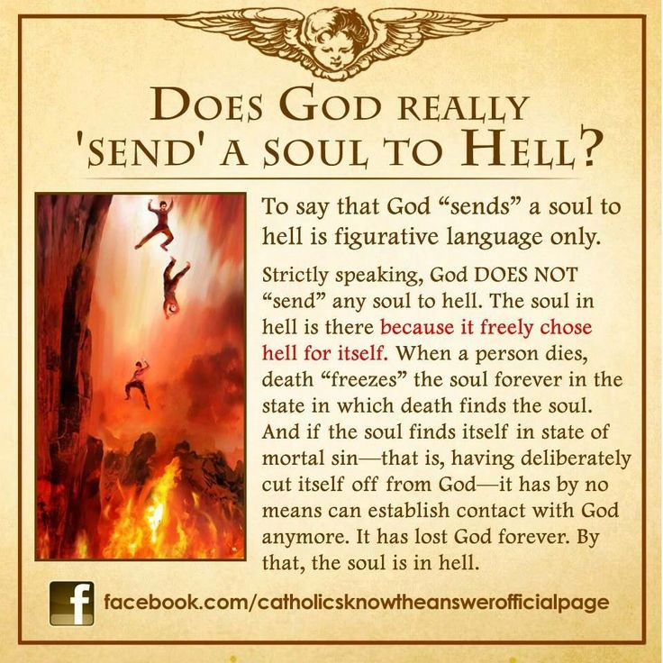Does God send a Soul to Hell?