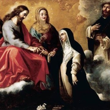 Image: The Mystic Marriage of Saint Catherine of Siena by Clemente de Torres