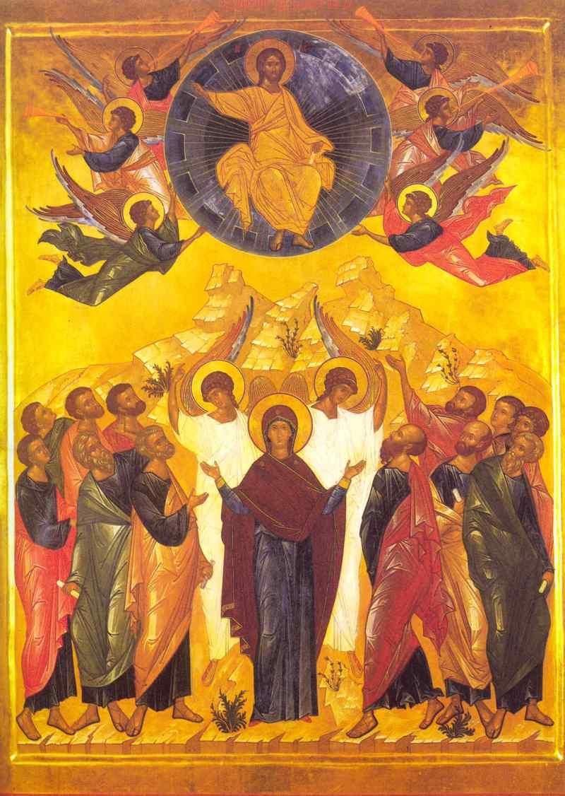 Icon of the Ascension, Novgorod, 15th Century