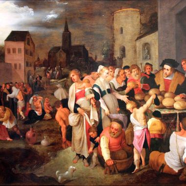 1605 Frans Francken the Younger, 'The Seven Works of Mercy' on commons.wikimedia.org