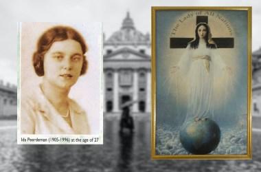 Vatican image via unsplash - Alex Folguera - link - https://unsplash.com/photos/k0XzKevz6_g, Our Lady of All Nation via https://en.wikipedia.org/wiki/The_Lady_of_All_Nations-- Ida Peerdeman via Pinterest - https://i.pinimg.com/originals/88/74/d2/8874d2315b450e43b2a3f18937798598.png