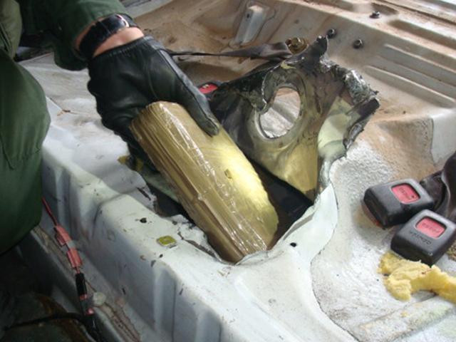 Agents Discovered Four Bundles Of Cocaine Hidden Inside A Speaker Box Border Patrol Photo