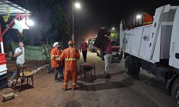 اغلاق 3 مقاهي ومصادرة 30 شيشة في حملات مسائية في طوخ وبنها (صور)