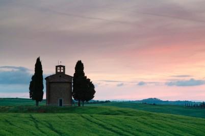 Media Bakery ID: RHD0069863 Capella di Vitaleta, Val d'Orcia, Province Siena, Tuscany, Italy