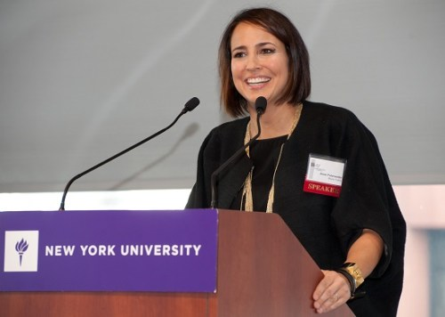 Marie Claire's editor-in-chief Anne Fulenwider at the New York Women in Communications Foundation's Student Communications Career Conference
