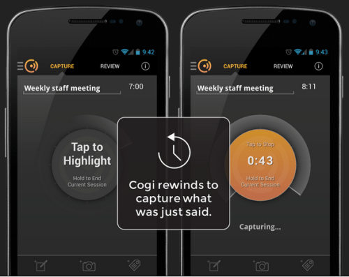 Screenshot of Cogi app from https://cogi.com