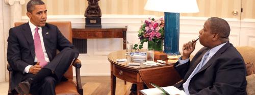 Derek T. Dingle interviewing President Barack Obama