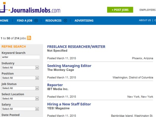 JOURNALISM JOBS