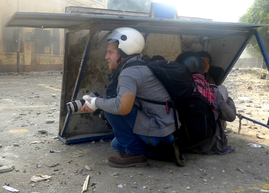 Journalists take shelter in Cairo