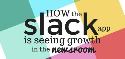 Slack app in the newsroom