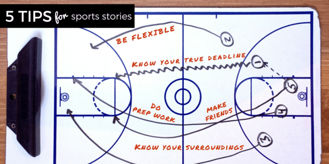 Sports Writing Tips