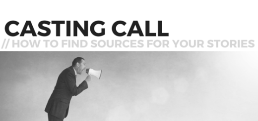 Casting Call for Stories - How to find expert sources