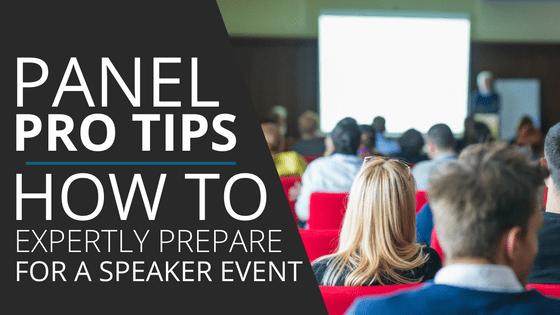 speaker panel tips for professional speakers