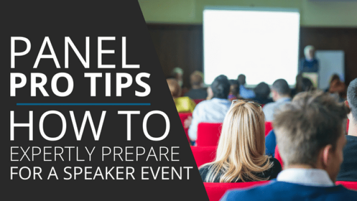 speaker panel tips for professional speakers