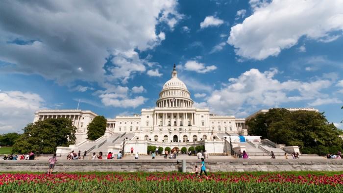 Exterior photo of the U.S. Capitol building