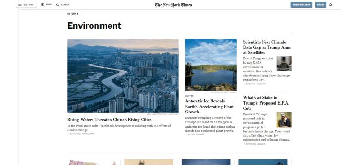 New York Times Environment
