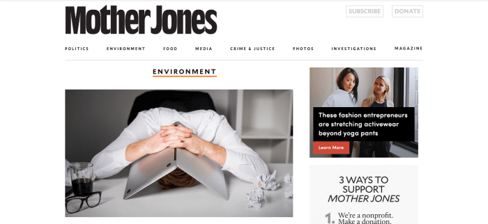 Mother Jones environment