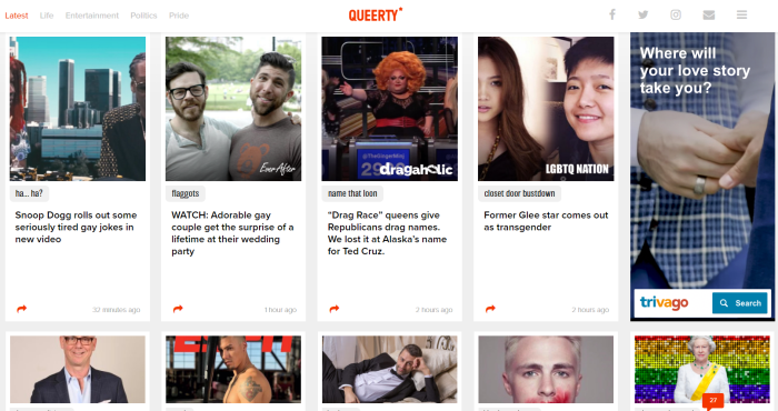 Queerty LGBT News Site