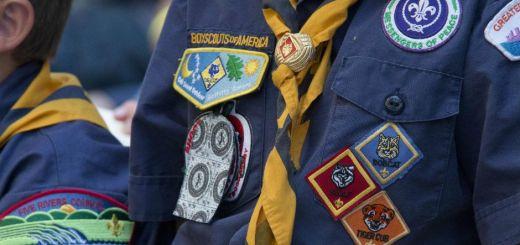 Closeup of Boy Scouts uniforms