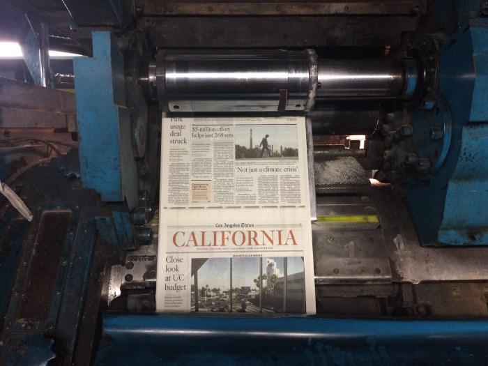Los Angeles Times printing plant