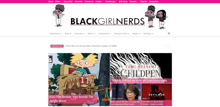 BGN HOME PAGE Black Girl Nerds