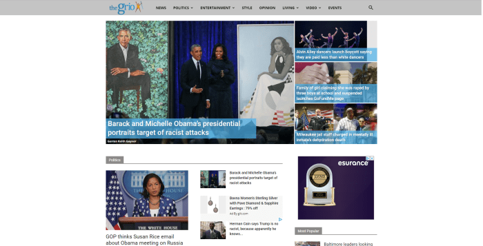 The Grio news homepage