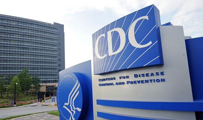 Centers for Disease Control and Prevention (CDC) sign in front of building
