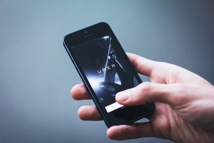 Smartphone with Uber app