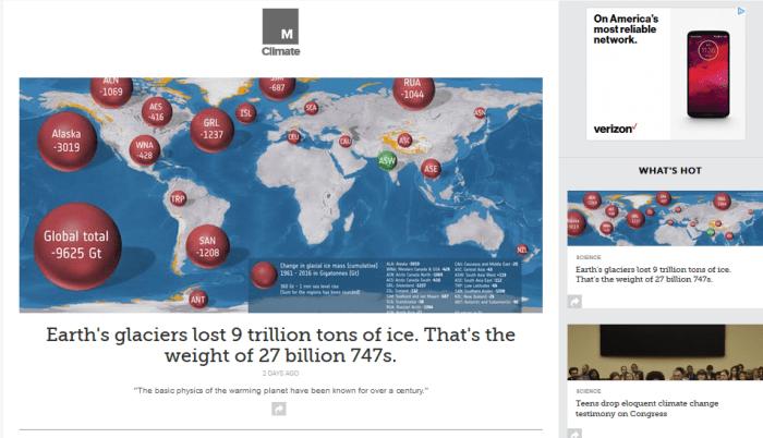 Mashable Climate homepage