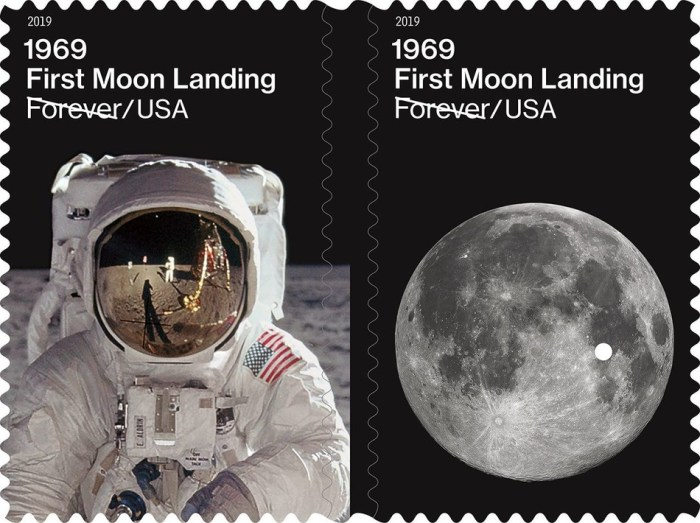 USPS 1969 First Moon Landing stamps