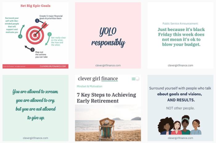 Budgeting Blogs We Love - @clevergirlfinance on Instagram