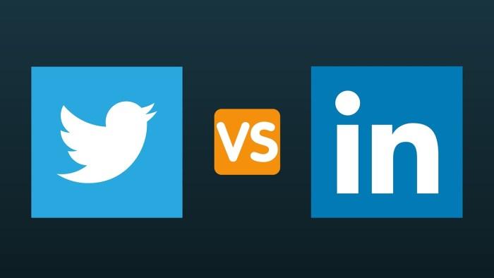twitter vs linkedin