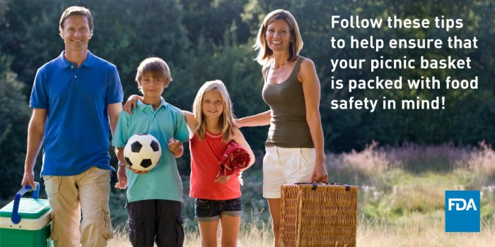 FDA: Follow these tips to help ensure that your picnic basket is packed with food safety in mind!