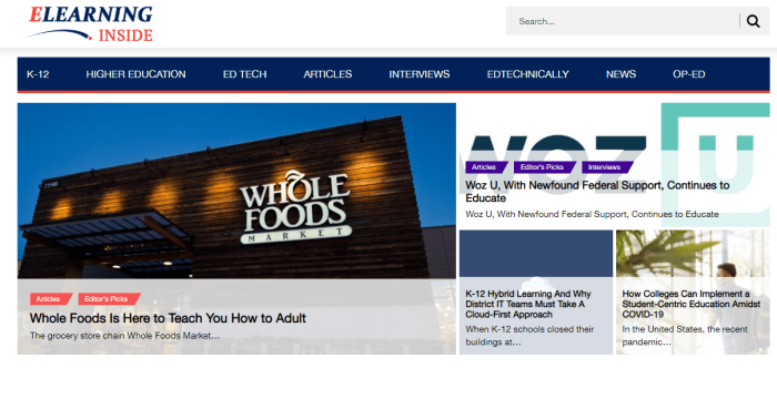 Top Education News Sites - eLearningInside