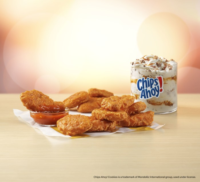 McDonald's New Spicy McNuggets and Chips Ahoy McFlurry