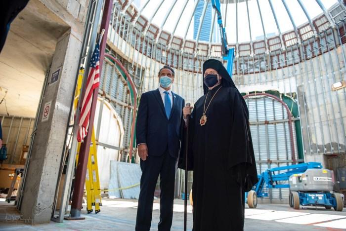 Governor Andrew Cuomo and Archbishop Elpidophoros