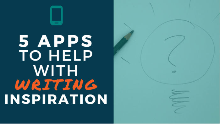 5 Apps to Help with Writing Inspiration