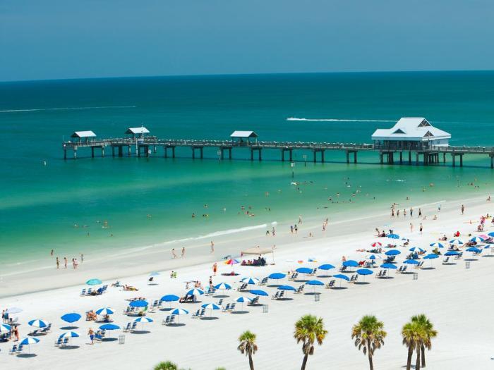 Aerial photo of a Florida beach