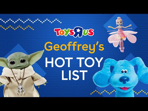 """a graphic featuring several hot toys and with the text that reads """"Geoffrey's Hot Toy List"""""""