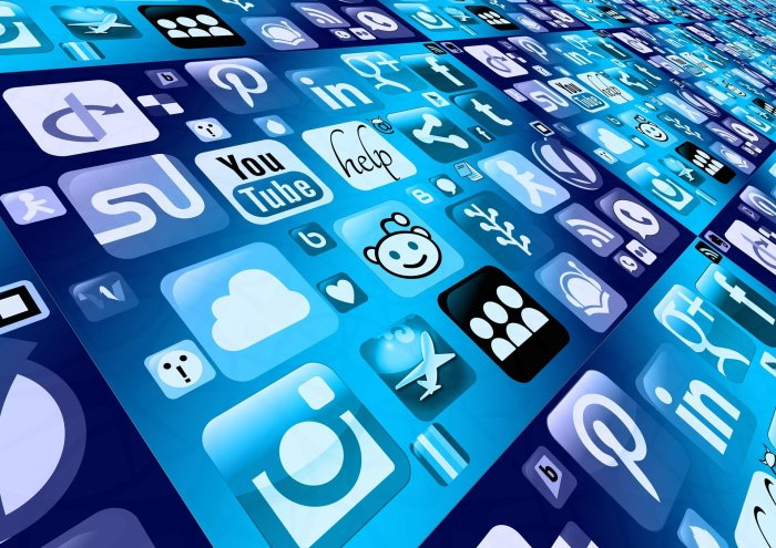 graphic image of social media icons