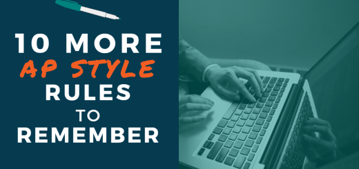 10 More AP Style Rules to Remember - picture of a person typing on a laptop