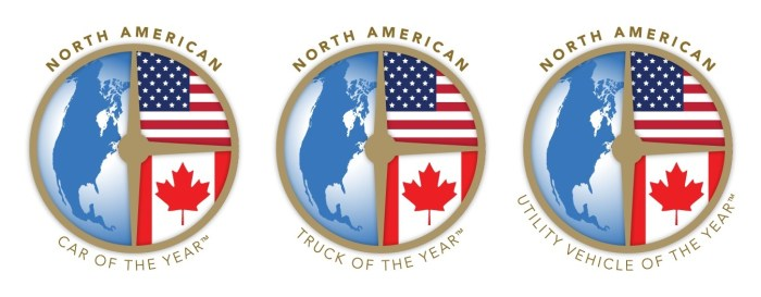 North American Car, Truck, and Utility Vehicle of the Year award logos