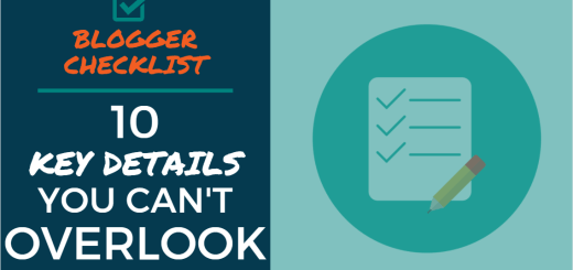 Blogger Checklist: 10 Key Details You Can't Overlook
