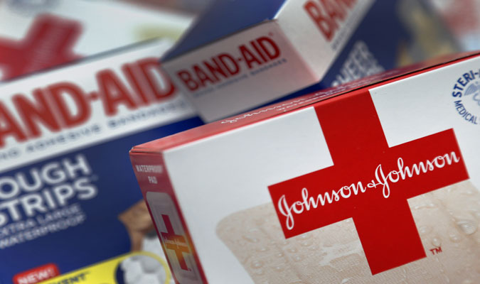 Packages of Johnson & Johnson Band-Aids