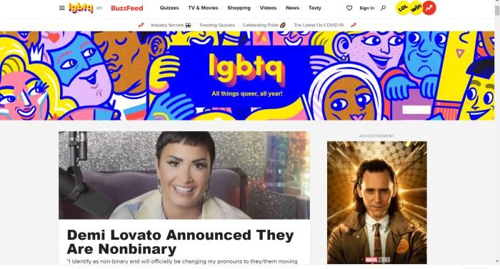 BuzzFeed LGBTQ News Site