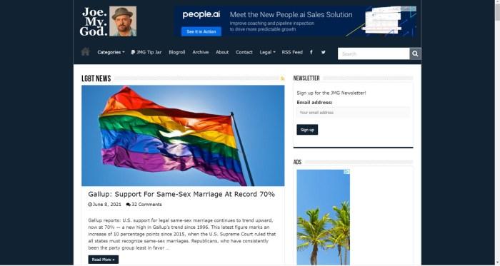 Joe.My.God LGBTQ Blog